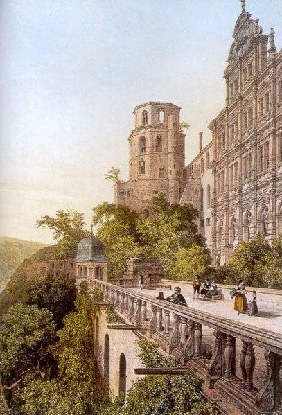 407px-Altan_Glockenturm_Heidelberger_Schloss_von_Laurent_Deroy_1844